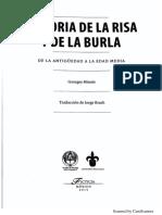 MINOIS, George, Historia de la risa y de la Burla, Introducción