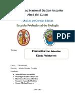 Paleontogia Formacion San Sebastian