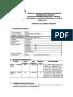 Silabo de Electronica Analoga II