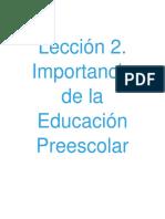 Actividad 1 Importancia de La Educacion Preescolar