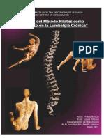 Metodo Pilates Frente Lumbagia Cronica