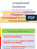 Chapter No 02 the Cultural Environments Facing Business
