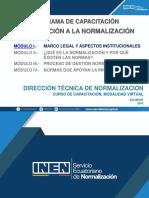 1. Contenido Módulo I - Introducción a La Normalización (1)