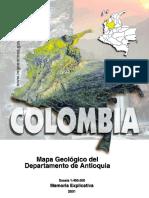 Memoria del mapa geologico de Antioquia_Ingeominas