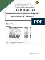 Programa Incubadora 2018