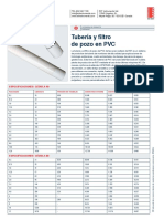 Tubería y Filtro de Pozo en PVC EPB0032A