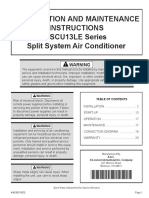 4SCU13LE AC Installation Owners Manual