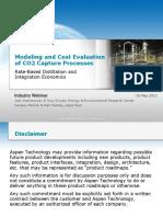 Aspenplus Carbon Capture Modeling