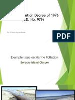 Marine Pollution Decree of 1976- Carabbacan