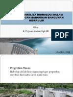 Peranan Analisa Hidrologi Dalam Perancangan Bangunan-bangunan Hidraulik