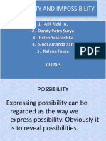 Possibility and Impossibility