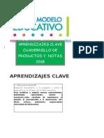 Productos Aprendizajes Claves