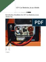 Desulfator for 12V Car Batteries, In an Altoids Tin