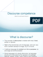 Discourse Competence