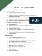 Nota Sejarah Tingkatan 3 Bab 2 Malayan Union
