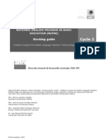 Working Guide Cycle 3