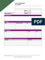 Meeting Agenda-Minutes Template