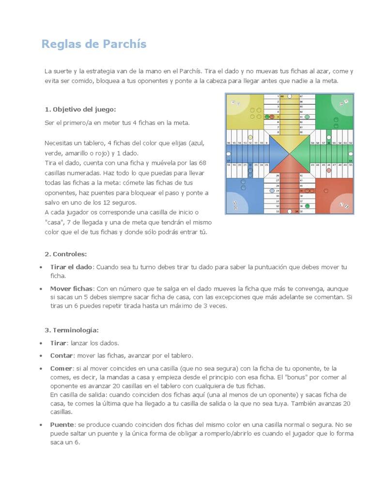 reglas del parchis pdf