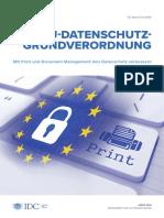 Idc Executive Brief Zur Dsgvo Mit Print Und Document Management Den Datenschutz Verbessern Web Data