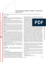 Flavonoid Intake and Cardiovascular Disease Mortality-A Prospective Study in Postmenopose Women