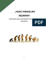 Makalah Kehidupan Awal Manusia Indonesia
