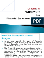framework of analysis of financial statements