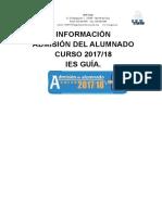 Informacion Admision 2017-2018