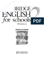 Cambridge Worksheet