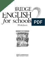 Cambridge Worksheet