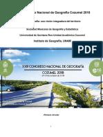 Primera Circular Congreso Nacional de Geografia Cozumel 2018