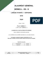 Bac 2018 Liban LV1 Espagnol S_ES_L