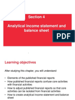 4. Analytical Income Statement and Balance Sheet