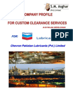 COMPANY PROFILE FOR CUSTOM CLEARANCE SERVICES
