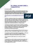 Denúncia do Jornal da Band sobre a indústria farmacêutica - Receitas Marcadas 1-b