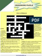 Crossword Zoo