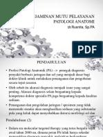 Penjaminan Mutu Pelayanan Patologi Anatomi - Copy