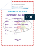 Trabajo Historia de balonmano - Educación Física