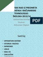 Aleksandar Gligorić Informacione i Računarske Tehnologije