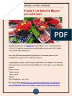 2018 Global Frozen Fruit Industry Report