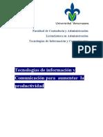 Tecnologías de Información y Comunicación para aumentar la productividad