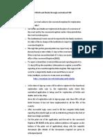 Procedure for B & D Registration