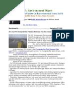 Pa Environment Digest September 27, 2010