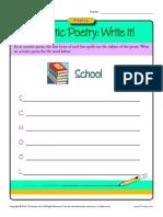 Acrostic Poetry Write It