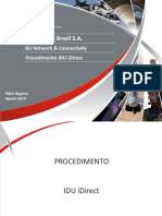Configuração IDU X3