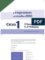 PROGRAMAS ESTUDIO CICLO 1
