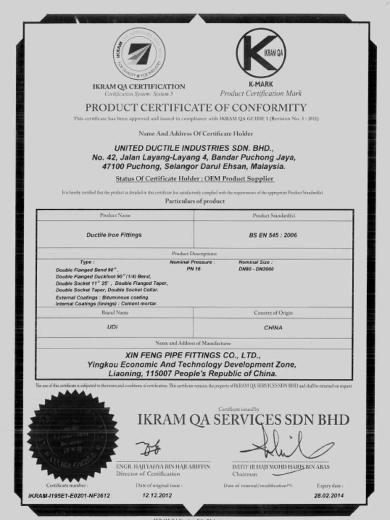 Ikram Qa Certification