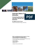 NREL Hydrogen Fuel Station Costs