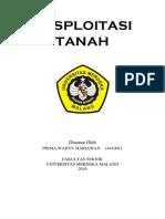 EKSPLOITASI  TANAH