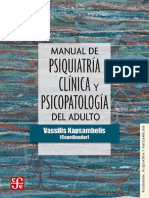 Manual de Psiquiatría Clínica y Psicopatología Del Adulto - Vassilis Kapsambelis