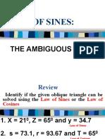 4.1 Law of Sines - Ambiguous Case